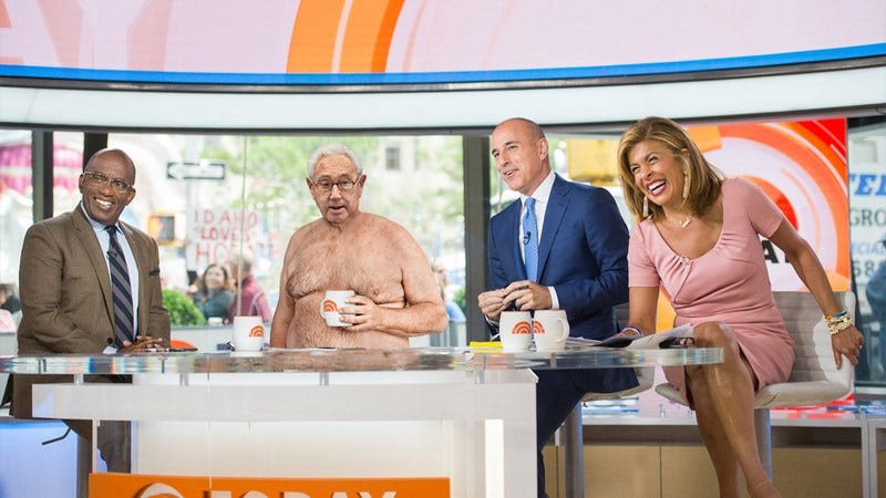 Henry Kissinger on the set of the Today show.