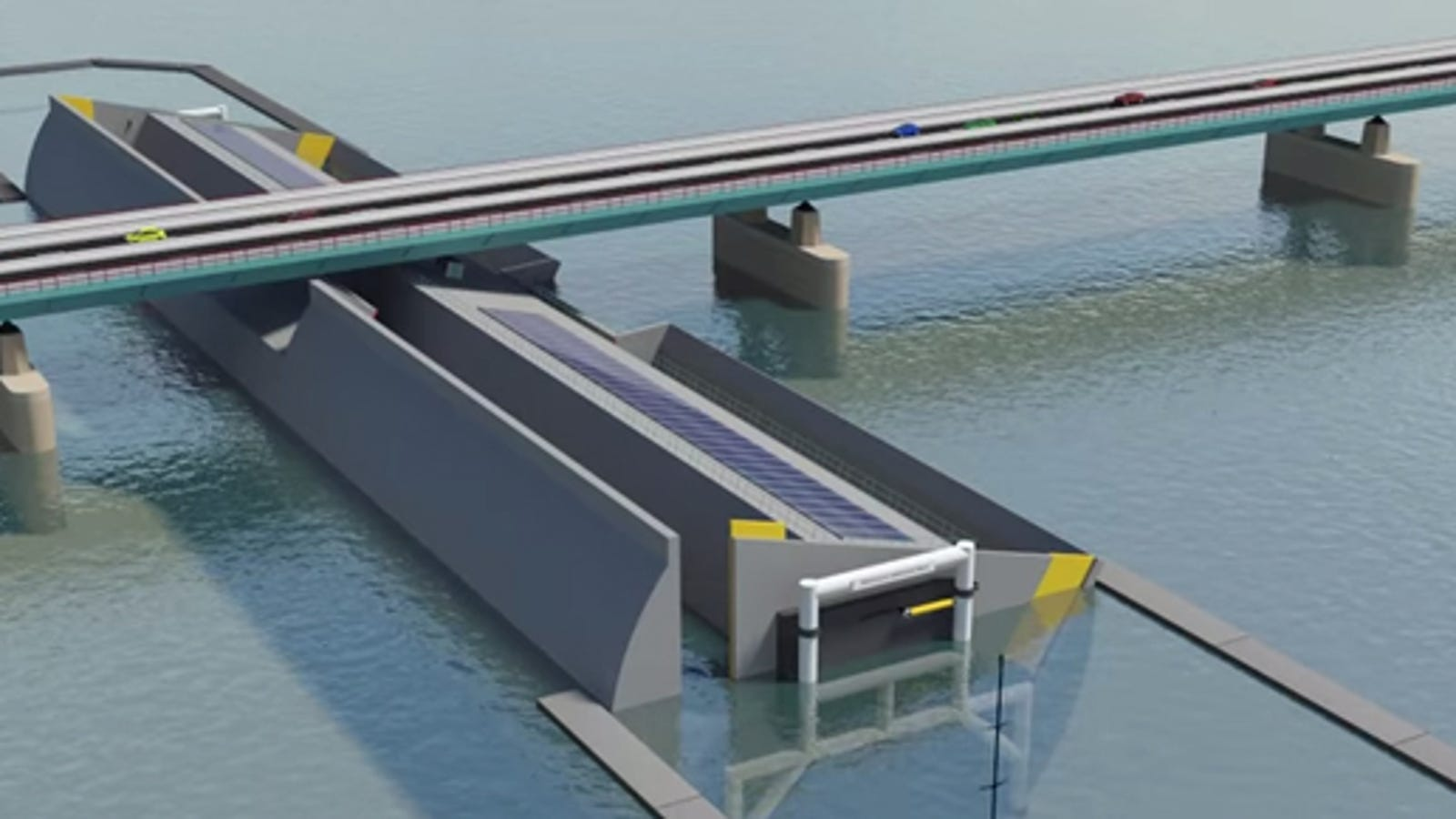Ingenious Design Lowers the Water Under a Bridge to Let Tall Ships Pass