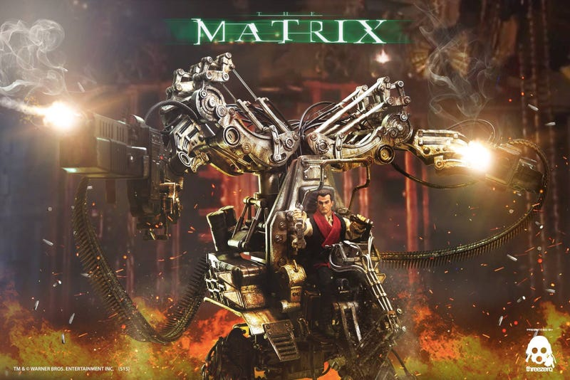 Illustration for article titled Despite the Movie, This Mech From The Matrix Revolutions Is Marvelous