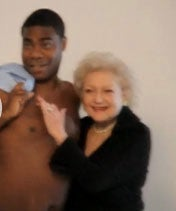 Illustration for article titled Video:  Betty White Gropes Topless Tracy Morgan