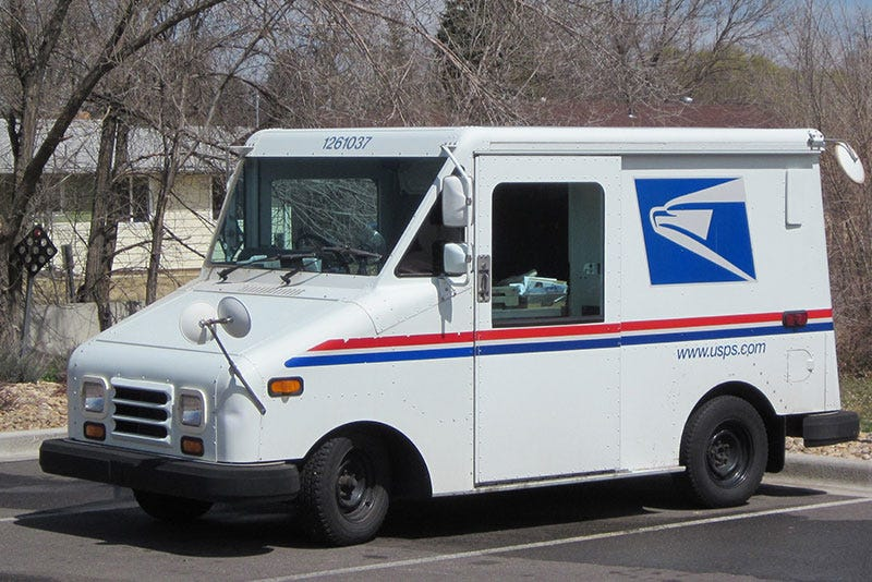 Illustration for article titled bad day for a USPS driver