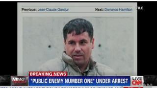 """Mexican drug kingpin Joaquin """"El Chapo"""" GuzmanCNN screenshot"""