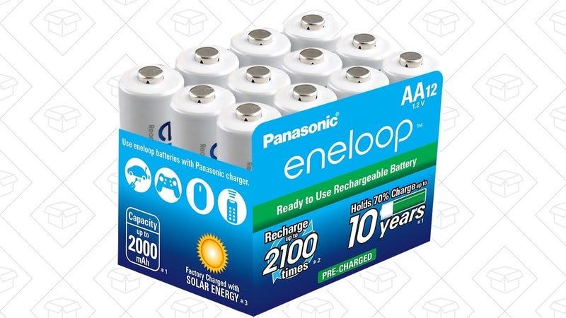 Eneloop AA 12-Pack, $31