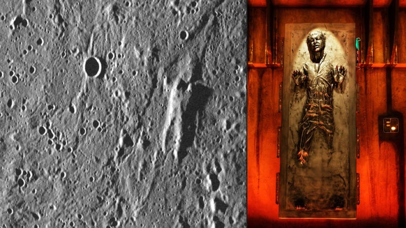 Illustration for article titled Mercury is made of carbonite and Han Solo is frozen in it