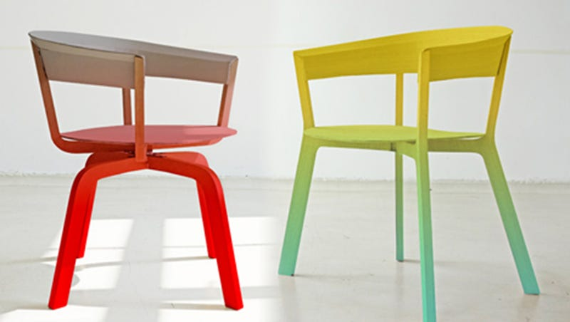 Illustration for article titled Color-Fading Ombre Chairs: Little Rainbows of Comfort