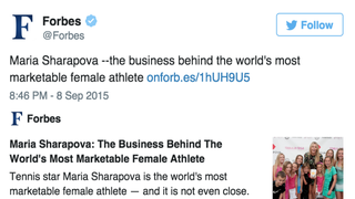 Forbes' tweet Twitter Screenshot