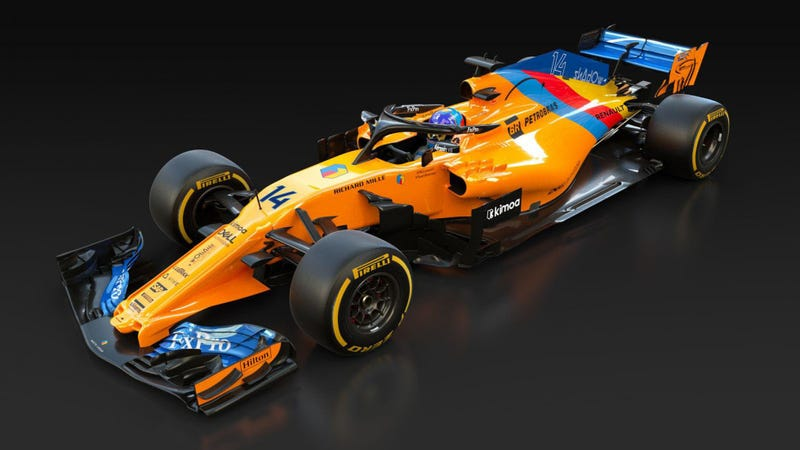 Illustration for article titled Alonso Receives Special One Off Liveried McLaren For Hulkenberg To Crash Into In Final F1 Race