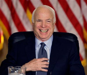 Illustration for article titled John McCain Should Not Look So Happy