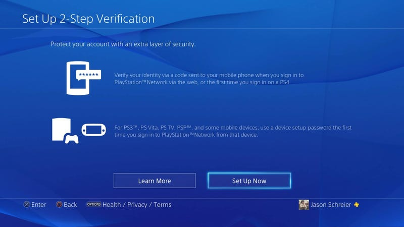 Illustration for article titled Go Set Up Two-Step Verification On Your PlayStation Right Now