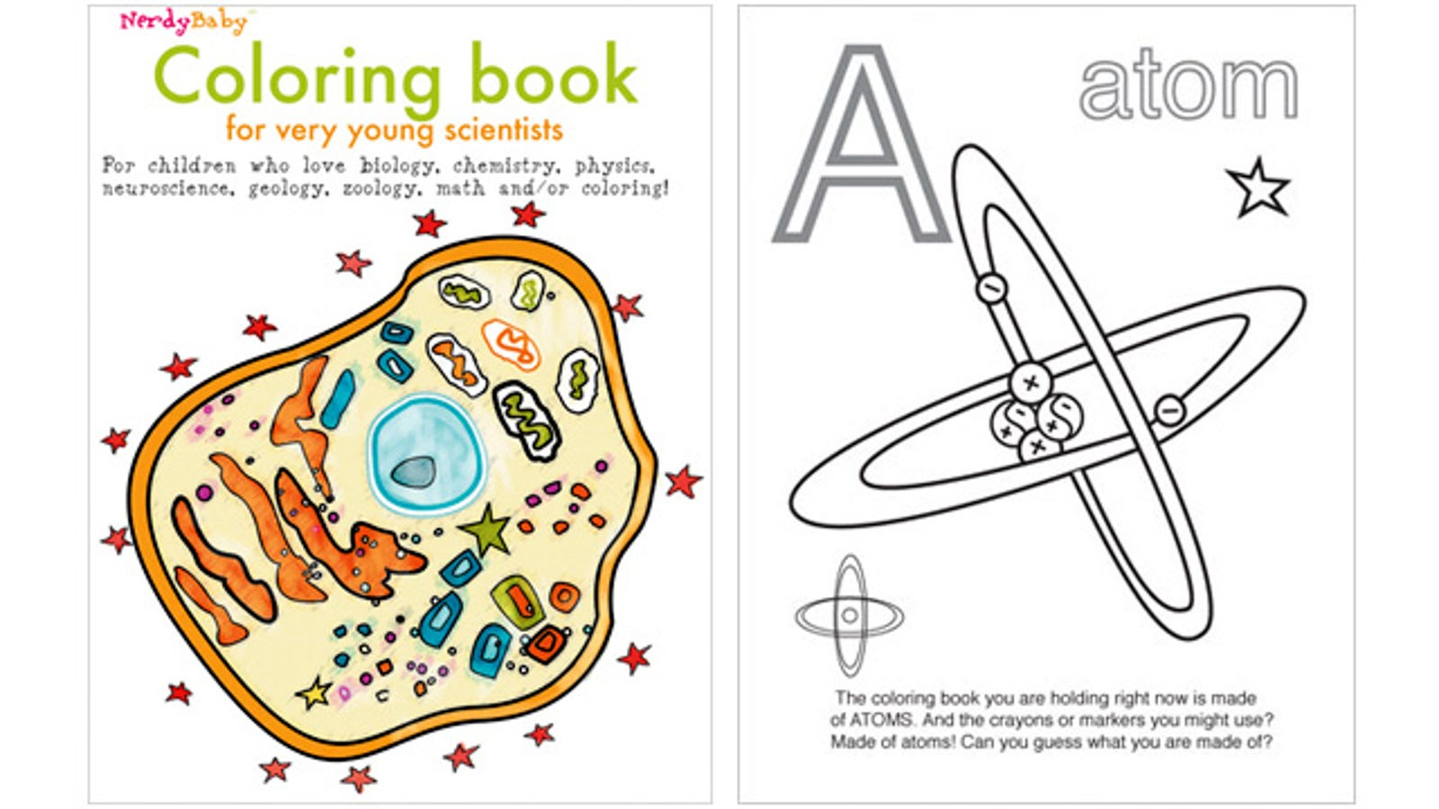 Activity Book For Young Scientists Encourages Coloring ...