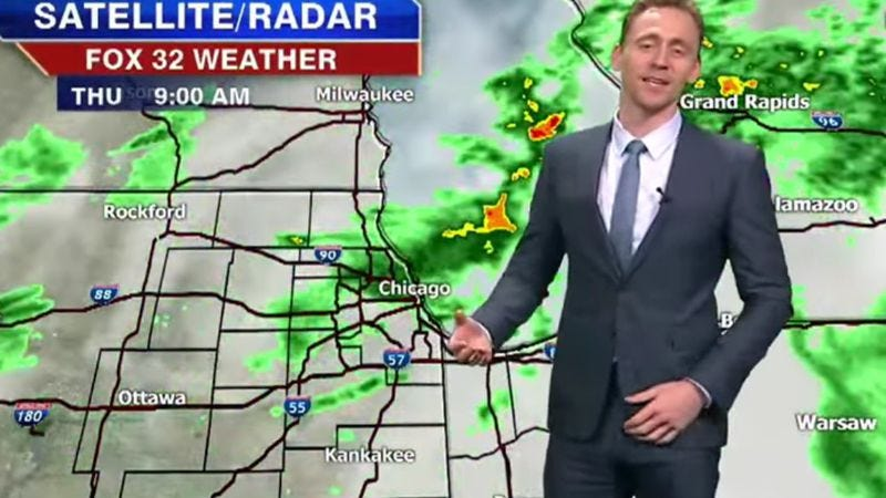 Illustration for article titled Tom Hiddleston drops by local news station to give the Thor-cast