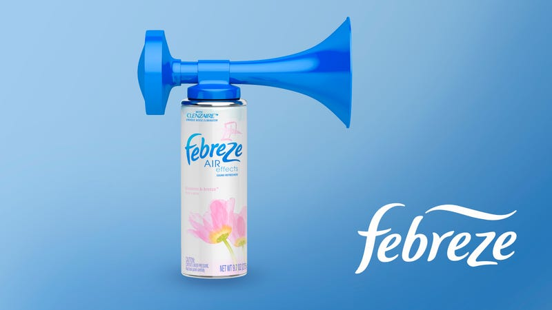 Illustration for article titled Febreze Releases New Air Horn For Covering Up Unpleasant Bathroom Sounds