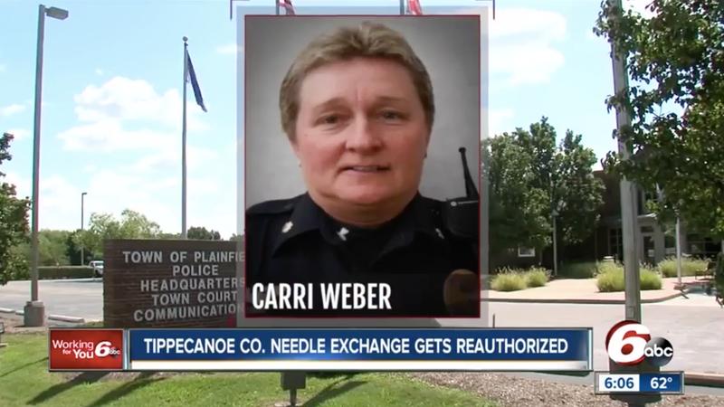 Officer Carrie Weber / Screen cap via WRTV/6 ABC
