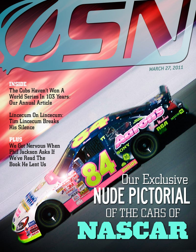Illustration for article titled Our Exclusive Nude Pictorial Of The Cars Of NASCAR