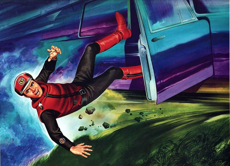 Don't try this at home! Captain Scarlet is indestructible! You are not!