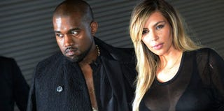 Kanye West and Kim Kardashian (Pierre Andrieu/AFP/Getty Images)