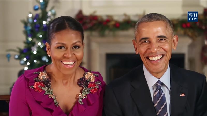 First lady Michelle Obama and President Barack ObamaVideo Screenshot