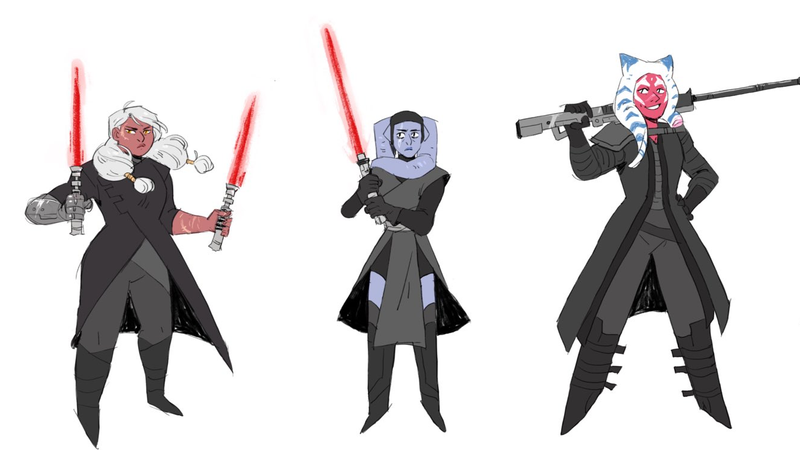 An artist's rendition of the Knights of Ren. See the full image below!