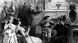 """Illustration for article titled People were """"downloading"""" music from their phones way back in 1892"""