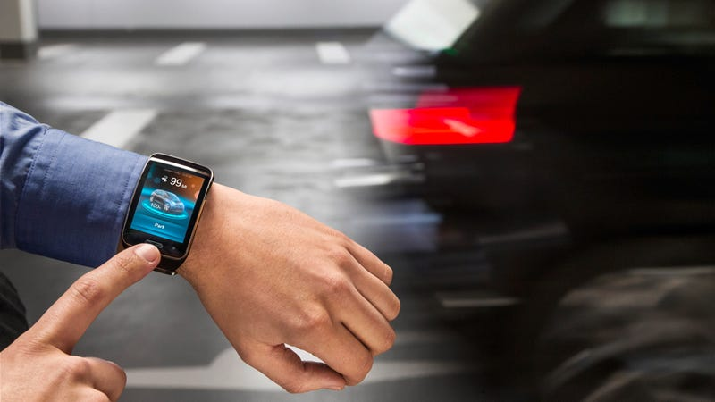 Illustration for article titled BMW Made A Car That Parks Itself By Talking To Your Watch