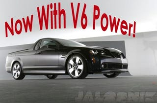 Illustration for article titled Pontiac G8 ST El Camino To Get Direct-Inject V6