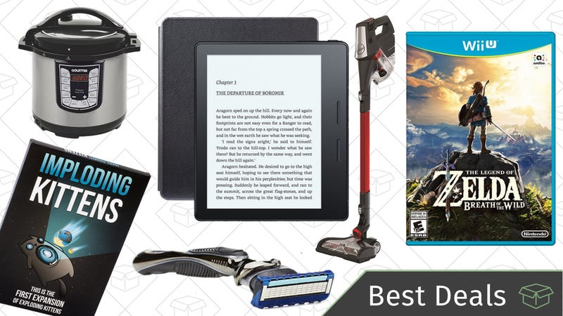Illustration for article titled Sunday's Best Deals: Gillette Fusion, BOGO Wii U Games, Hoover Vacuum, and More