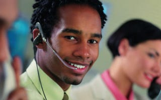 Hello! A Canada firm is hiring call reps. (Stockbyte)