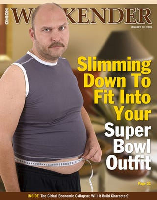 Illustration for article titled Slimming Down To Fit Into Your Superbowl Outfit