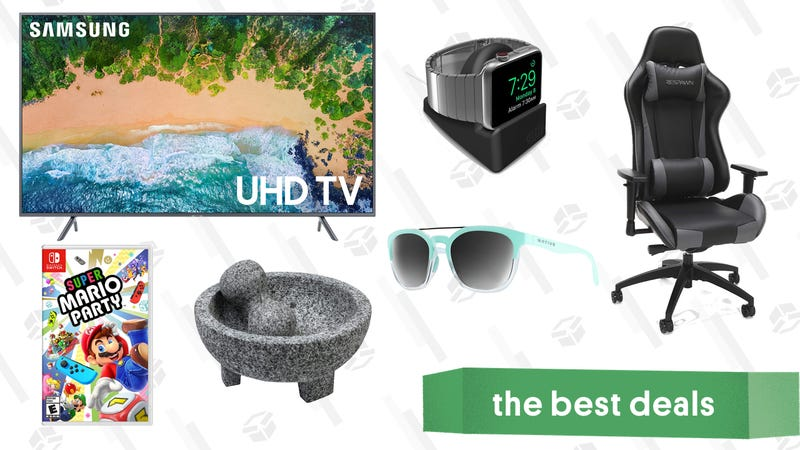 Illustration for article titled Friday's Best Deals: Samsung TVs, Super Mario Party, Apple Watches, Gaming Chair, and More
