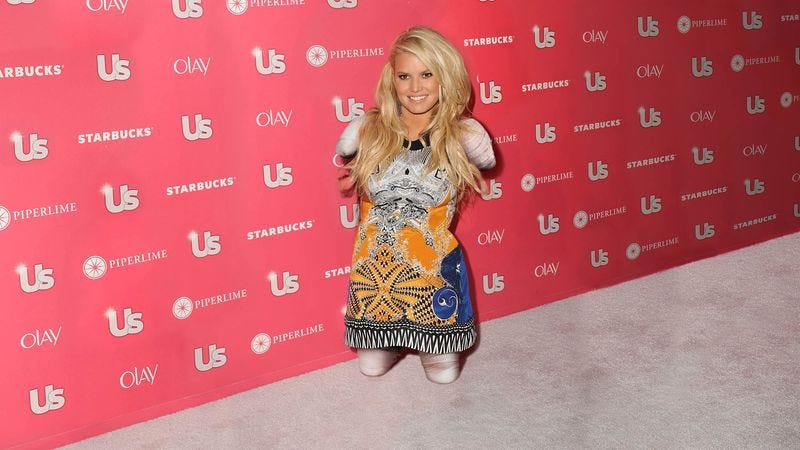 Illustration for article titled Jessica Simpson Reveals Slimmer Figure After Chopping Off Limbs