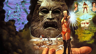 Illustration for article titled The 10 most befuddling scenes from Sean Connery's dystopian sexcapade Zardoz (NSFW)