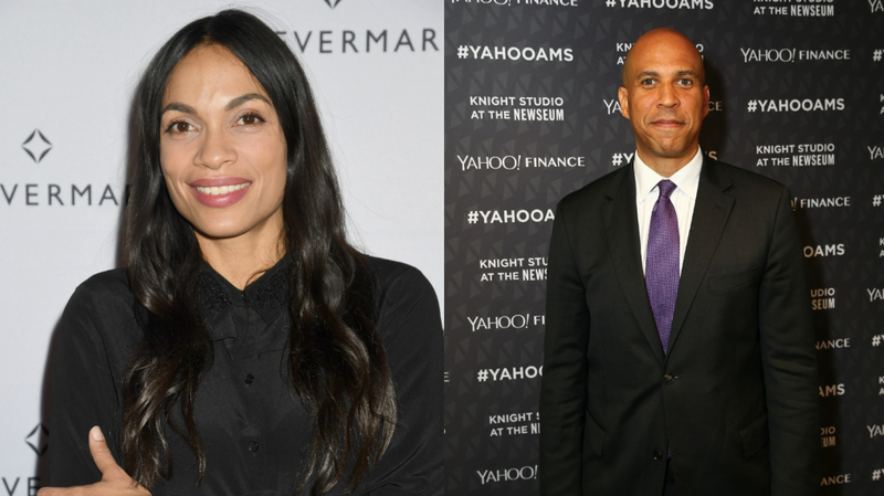 Illustration for article titled Cory Booker and Rosario Dawson Have Probably Been Dating for a Month