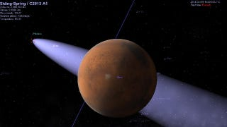 Illustration for article titled Could a comet hit Mars in 2014?