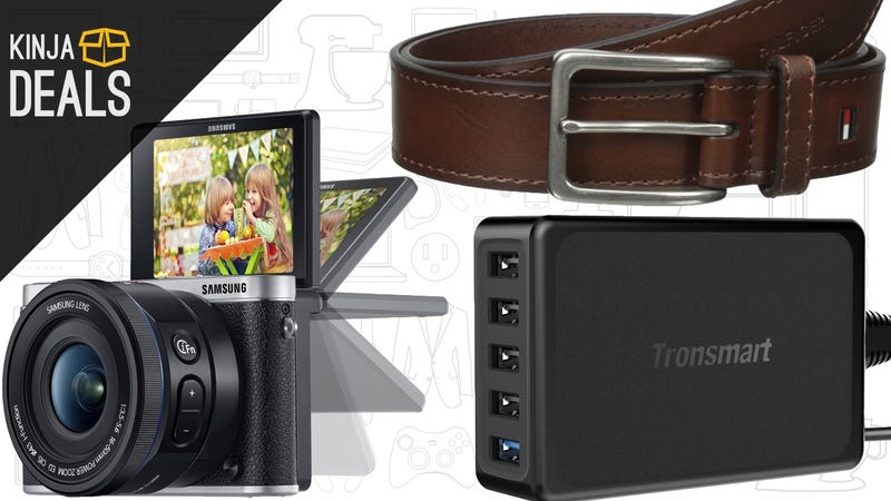 Illustration for article titled Today's Best Deals: Mirrorless Camera, Tommy Hilfiger Accessories, and More