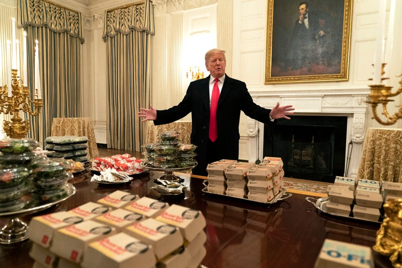 Illustration for article titled Did Trump Lie About How Many Burgers He Ordered For Clemson's White House Hoedown? The Root Investigates