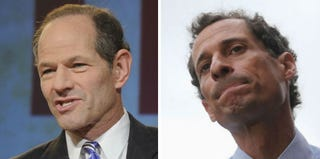 Eliot Spitzer (Kris Conner/Getty Images); Anthony Weiner (Mario Tama/Getty Images)