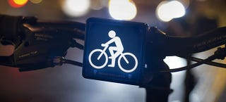 Illustration for article titled Symbolic Bike Lights Make Cyclists More Visible to Traffic