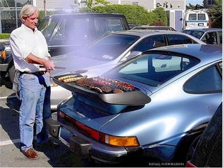 Illustration for article titled The Joy Of Cooking… On A Porsche