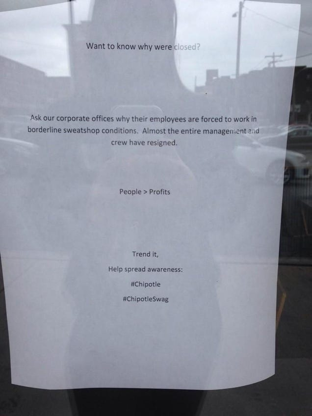 Progressive Near Me >> Chipotle Workers Quit, Shut Down Store, Because That Job Sucks