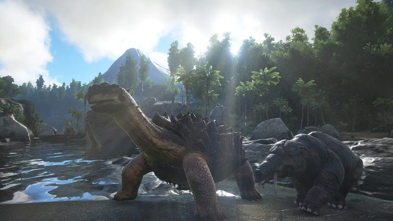 Illustration for article titled Ark: Survival Evolved is a dinosaur game where you eat shit and die