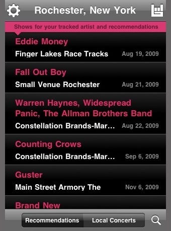 Illustration for article titled Bandsintown App Finds Local Concerts by GPS, iTunes Scanning