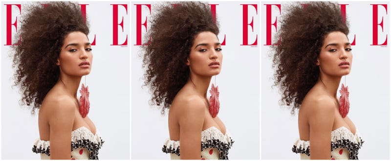 Illustration for article titled The Category Is 'Cover Star': Pose's Indya Moore Is the 1st Transgender Woman to Cover Elle Magazine