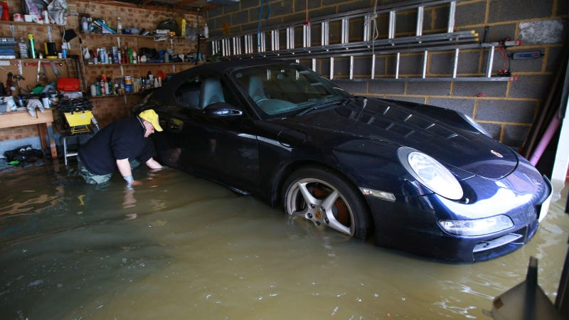 how to clean flood damaged car