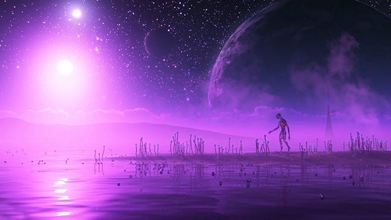 Illustration for article titled Why scientists need to search for alien life on purple planets