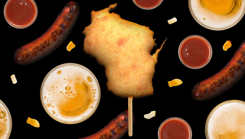 I crammed the entire state of Wisconsin into a corn dog