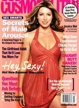 Illustration for article titled Did Jessica Biel Piss Off The Editors of 'Cosmopolitan'?