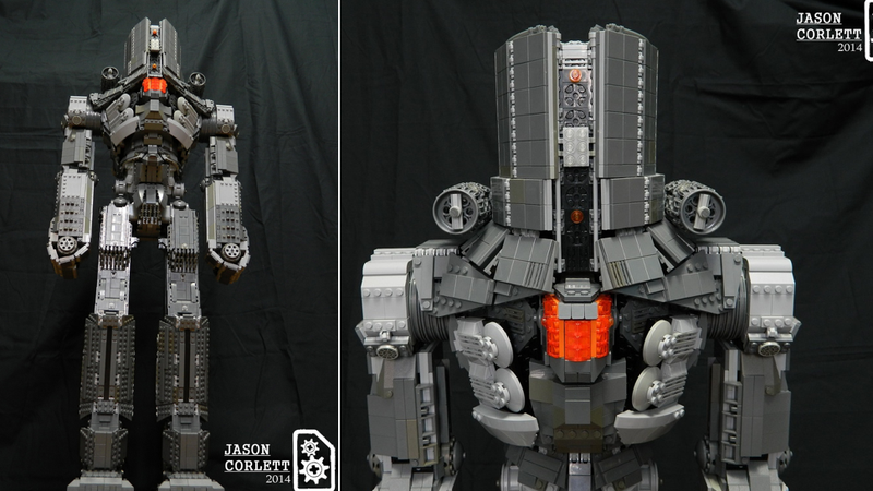 Illustration for article titled Awesome 3-foot-tall Lego jaeger from Pacific Rim is piloted by minifigs