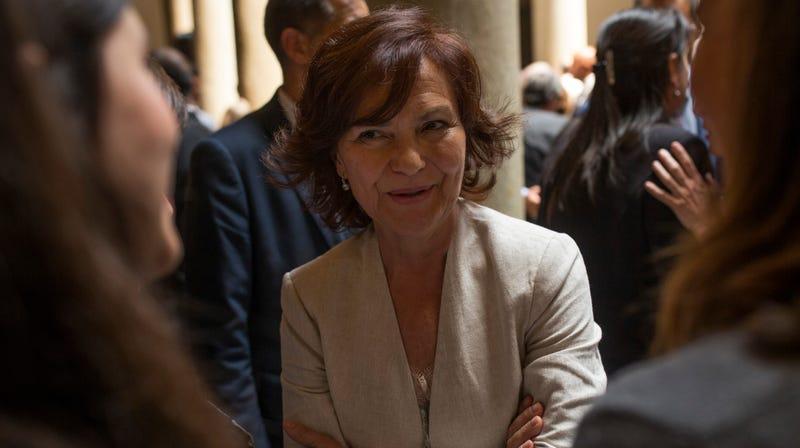 Spain's Deputy Prime Minister Carmen Calvo