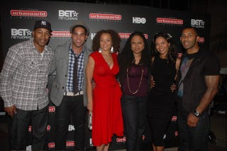 "The cast and crew of Ava DuVernay's ""I Will Follow"" (Stephen Knight)"