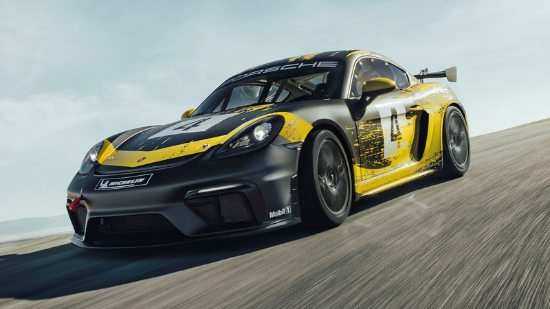Illustration for article titled The Porsche 718 Cayman GT4 Clubsport Is Bringing Back The Flat Six With 425 HP
